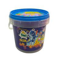 """Лизун-антистресс """"Mr. Boo: Neon"""", 500 г (синий), Окто, лизуны,товары для творчества,игрушки товары для детей"""