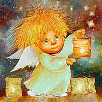"""Набор для рисования картин по номерам """"Ангел, дарящий свет"""""""