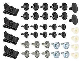 Toyota Avensis T25 03-09 Набір затискачів для кріплення кришки двигуна 40шт. комплектект