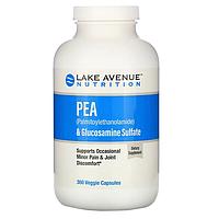 Lake Avenue Nutrition, ПЭА (пальмитоилэтаноламид) +сульфат глюкозамина, 600 мг + 1200 мг, 360 капсул