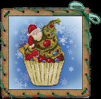 """Набор для вышивания на пластиковой основе с перфорацией """"Рождественское пирожное"""""""
