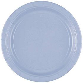 """Тарілки паперові стиль """"Однотонний"""", ніжно - блакитні, 20 шт, 17 см, Набор тарелок """"Нежно голубой"""""""