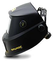 Сварочная маска хамелион  SAVAGE A40 Black со сменной батареей ESAB, фото 2