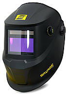 Сварочная маска хамелион  SAVAGE A40 Black со сменной батареей ESAB, фото 3