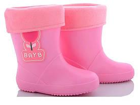 Резиновые сапоги для девочки BAYB розовый цвет размер 25-30