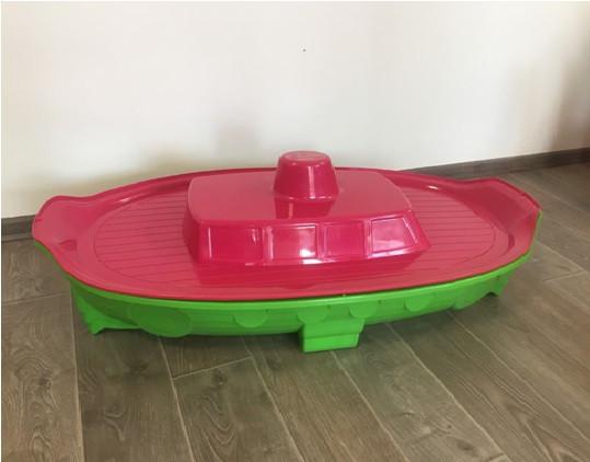 Пісочниця басейн з кришкою красная Корабель лодка 03355/3 песочница бассейн с крышкой
