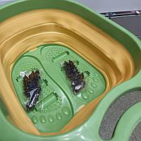 Ванночка для ніг Педикюрная складна масажна ванночка відро, фото 1