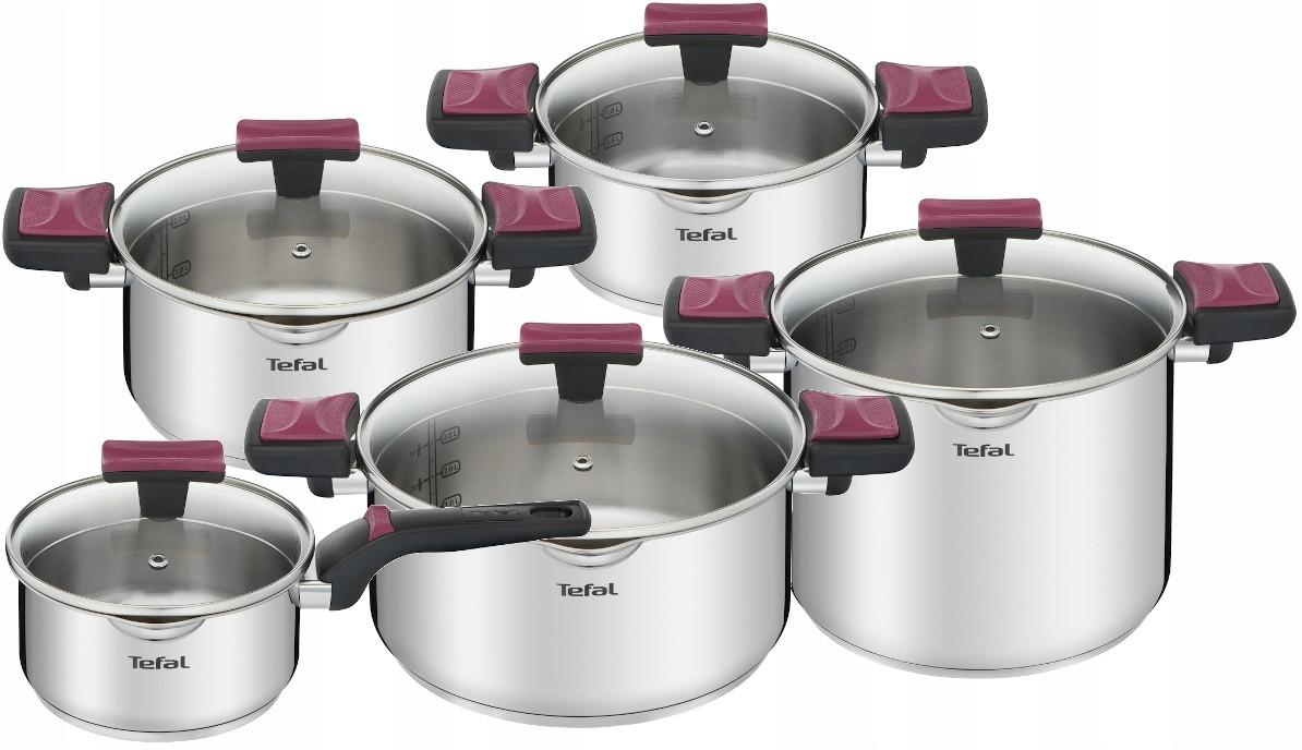 Наборы посуды Tefal Cook&Clip Inox G723SA74