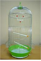 Клетка большая для птиц круглая-емаль.H-67cм, Ф-35см