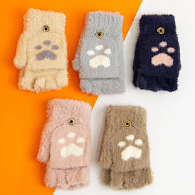 Оптом теплі красиві зимові рукавички (рукавиці) 8-12 років №20-25-2