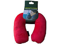 Подушка под шею Антистресс из полистерольных шариков красная