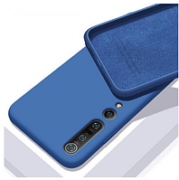 Чехол Silicone Case Full для Xiaomi Mi 10/10 Pro Blue