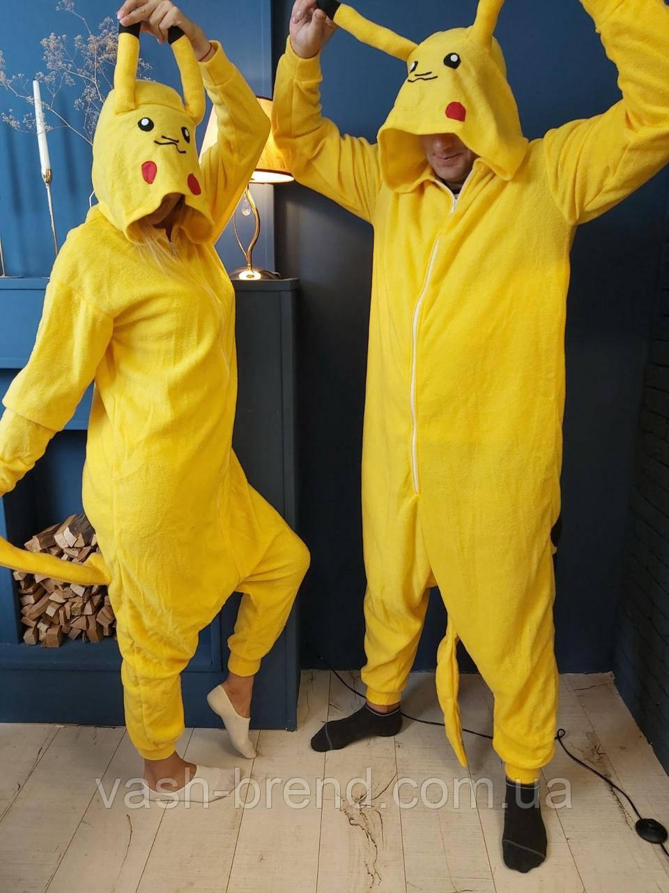 Пижама Кигуруми Пикачу покемон для взрослых и детей
