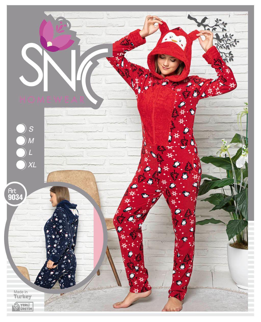 Женская теплая  пижама кигуруми с капюшоном Solid charm