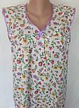 Нічна сорочка без рукава 48 розмір Літо, фото 9