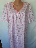 Ночная рубашка с коротким рукавом 48 размер Ромашки, фото 4