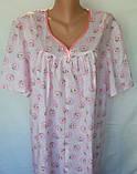Ночная рубашка с коротким рукавом 52 размер Ромашки, фото 3