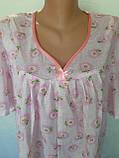 Ночная рубашка с коротким рукавом 52 размер Ромашки, фото 7