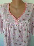 Ночная рубашка с коротким рукавом 52 размер Ромашки, фото 8