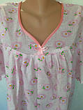 Ночная рубашка с коротким рукавом 52 размер Ромашки, фото 9