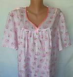 Ночная рубашка с коротким рукавом 64 размер Ромашки, фото 2