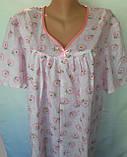 Ночная рубашка с коротким рукавом 64 размер Ромашки, фото 6