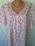 Ночная рубашка с коротким рукавом 64 размер Ромашки, фото 9