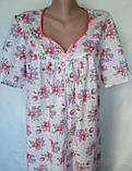 Ночная рубашка с коротким рукавом 62 размер Герберы, фото 5