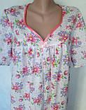 Ночная рубашка с коротким рукавом 62 размер Герберы, фото 6