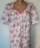 Ночная рубашка с коротким рукавом 62 размер Герберы, фото 10
