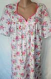 Ночная рубашка с коротким рукавом 64 размер Герберы, фото 2