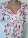 Ночная рубашка с коротким рукавом 64 размер Герберы, фото 3