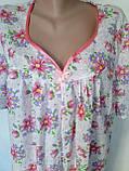 Ночная рубашка с коротким рукавом 64 размер Герберы, фото 4