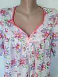 Ночная рубашка с коротким рукавом 64 размер Герберы, фото 5