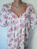 Ночная рубашка с коротким рукавом 64 размер Герберы, фото 7