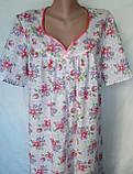 Ночная рубашка с коротким рукавом 64 размер Герберы, фото 9