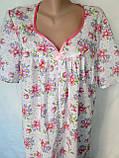 Ночная рубашка с коротким рукавом 64 размер Герберы, фото 10