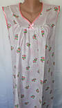 Ночная рубашка без рукава 50 размер Розовый бантик, фото 4