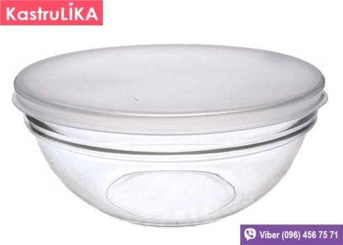 Скляний салатник з кришкою Luminarc Transparent 170мм 1,1 л