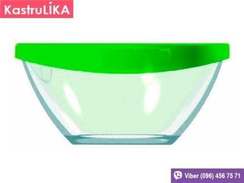 Большой стеклянный салатник с крышкой Luminarc Keep N 280мм