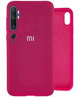 Чехол Silicone Case Full для Xiaomi Mi 10/10 Pro Hot pink