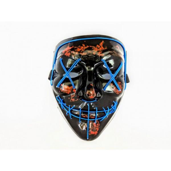 Неонова маска Purge Mask Фантом Судно ніч Синій (KG-2297)