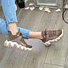 Ботинки женские комбинированные спортивного стиля, цвет визон, фото 8