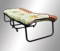 Раскладная кровать с ватным матрасом и колесами