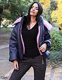 Курточка женская на осенний сезон с геометрическим рисунком, фото 3