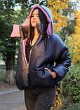 Курточка женская на осенний сезон с геометрическим рисунком, фото 2