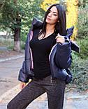 Курточка женская на осенний сезон с геометрическим рисунком, фото 4
