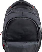 Рюкзак школьный подростковый на три отдела черно-красный ортопедический Winner One 405-5, фото 3