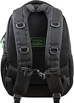 Рюкзак шкільний підлітковий на три відділи ортопедичний чорно-зелений Winner One 405-5 GR, фото 2