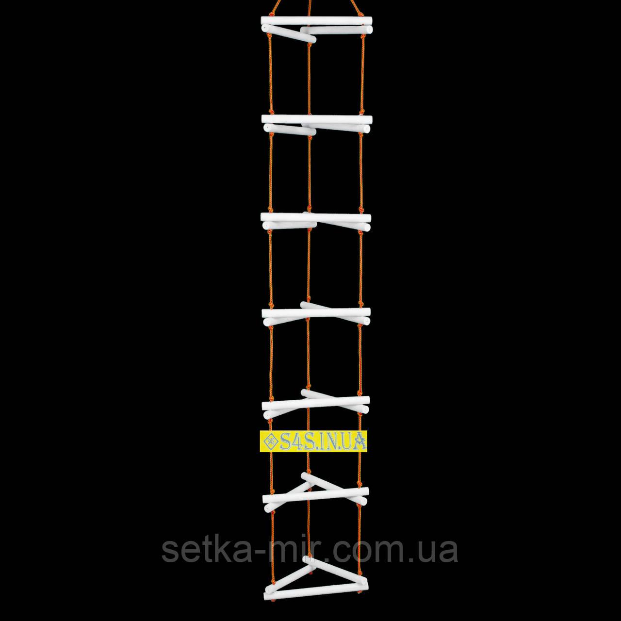 Лестница детская, подвесная, деревянная «ЁЛОЧКА. ЭЛИТ», белая